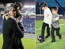Dr. Miguel Angel Mancera y sus dos hijos